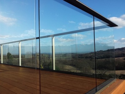 steel and glass balcony system